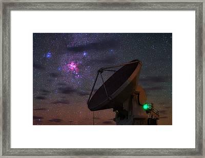 Carina Nebula Over Alma Telescope Framed Print by Babak Tafreshi