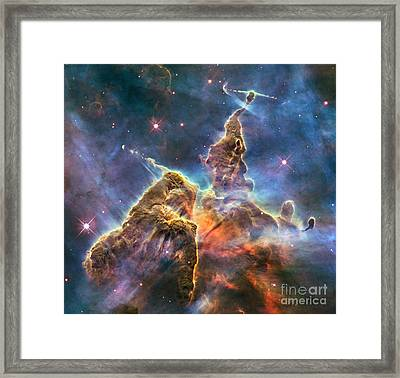 Carina Nebula Framed Print by Science Source