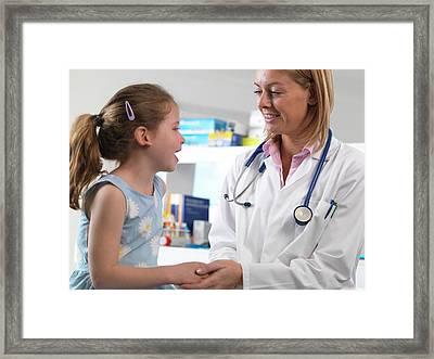 Caring Doctor Framed Print by Tek Image