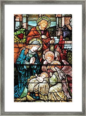 Caring For Baby Jesus Framed Print by Adam Jewell
