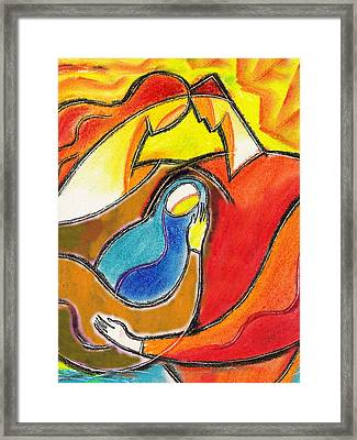 Caring Framed Print by Leon Zernitsky