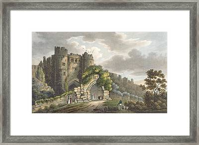 Carisbrook Castle, From The Isle Framed Print by Frederick Calvert