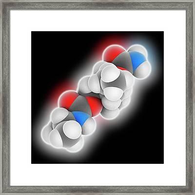 Carisoprodol Drug Molecule Framed Print