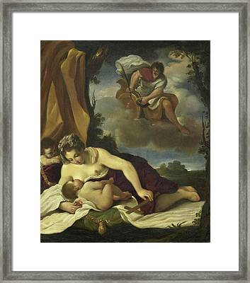 Caritas, Copy After Guercino Framed Print