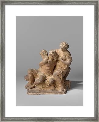 Caritas Romana Group Consisting Of Cimon And Pero And Two Framed Print by Quint Lox