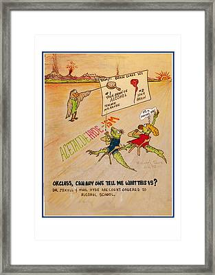 Carl And Mary Court Ordered Alcohol Framed Print