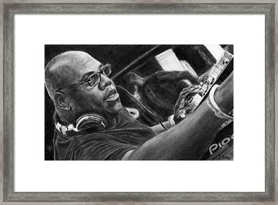 Carl Cox Pencil Drawing Framed Print