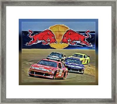 Carl Edwards Framed Print