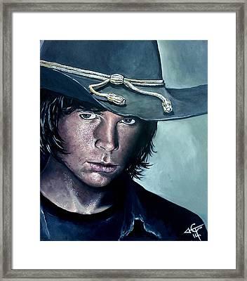 Carl Grimes Framed Print