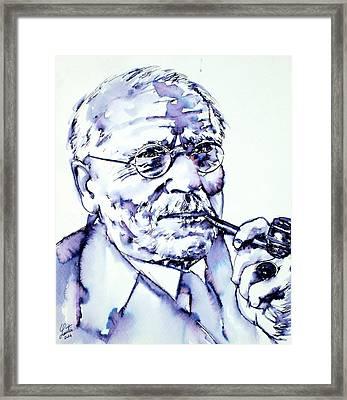 Carl Gustav Jung - Portrait Framed Print