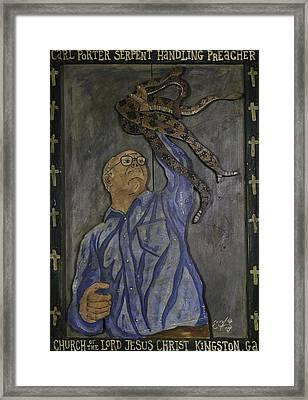 Carl Porter - Serpent Handling Preacher Framed Print