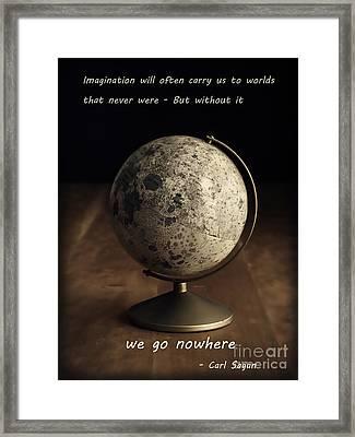 Carl Sagan On Imagination Framed Print