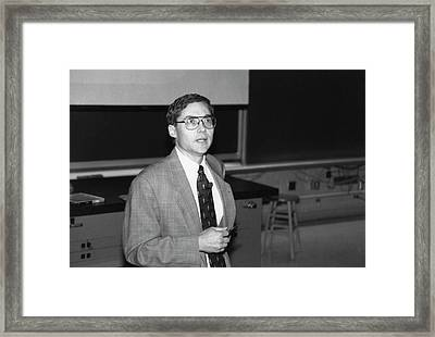 Carl Wieman Framed Print by Emilio Segre Visual Archives/american Institute Of Physics