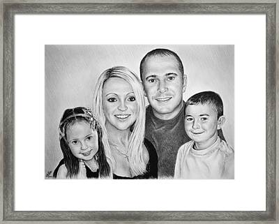Carlie Neil Alisha And Ben Framed Print by Andrew Read
