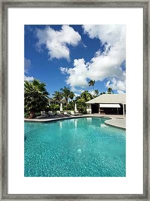 Carlisle Bay Hotel, Swimming Pool Framed Print