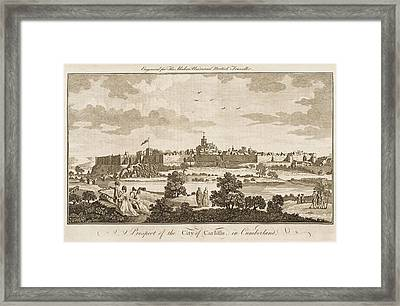 Carlisle, Cumbria, England     Date 1779 Framed Print by Mary Evans Picture Library