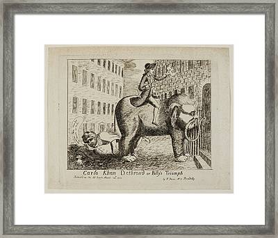 Carlo Khan Dethron'd Or Billy's Triumph Framed Print