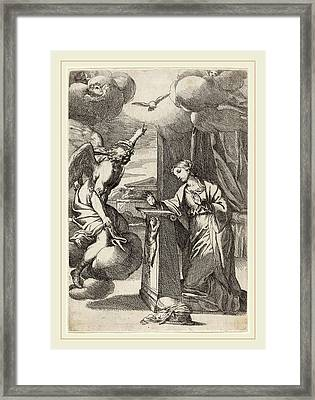 Carlo Maratta Italian, 1625-1713, The Annunciation Framed Print by Litz Collection