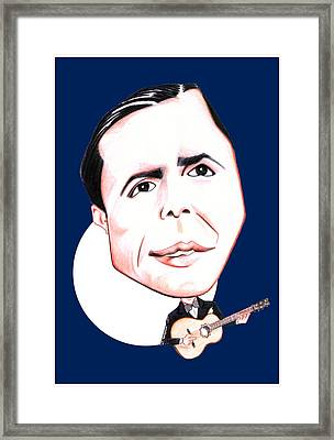 Carlos Gardel Illustration Framed Print by Diego Abelenda