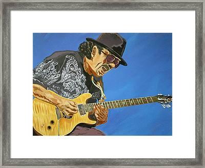 Carlos Santana-magical Musica Framed Print by Bill Manson