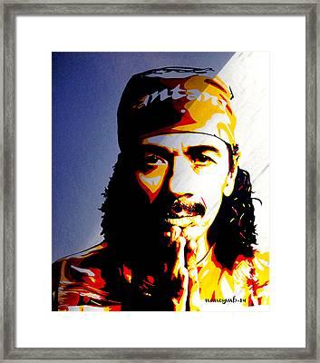 Carlos Santana. Framed Print