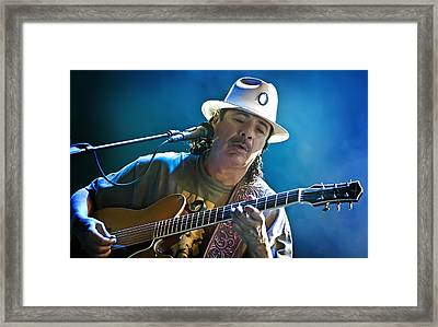 Carlos Santana On Guitar 3 Framed Print