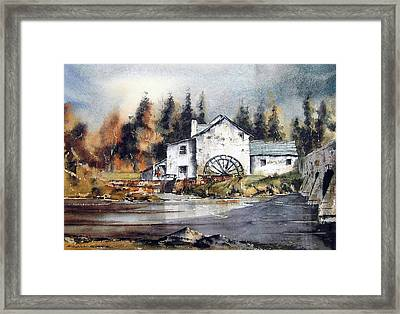 Carlow Rathvilly Mill Framed Print by Val Byrne