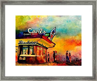 Carl's Ice Cream Framed Print by Jill Jacobs