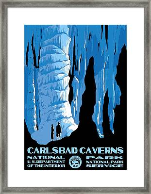 Carlsbad Caverns National Park Vintage Poster Framed Print