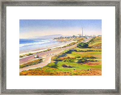 Carlsbad Rt 101 Framed Print by Mary Helmreich