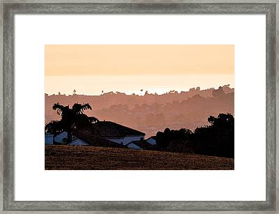 Framed Print featuring the digital art Carlsbad Sunset by Kirt Tisdale
