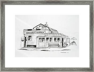 Carlsons Corner Manasquan Framed Print by Melinda Saminski