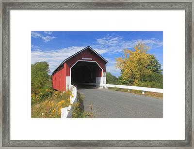 Carlton Covered Bridge Monadnock Region Framed Print by John Burk