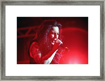 Carly And The Concert Lighting Framed Print by Shoal Hollingsworth