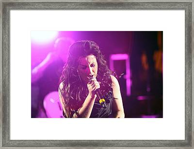 Carly On Stage Framed Print by Shoal Hollingsworth