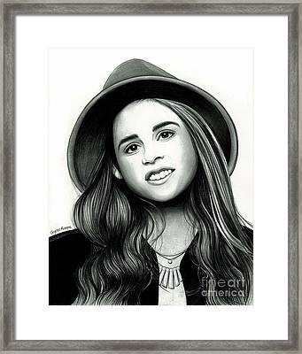 Carly Rose Sonenclar Framed Print