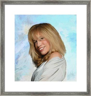 Carly Simon Framed Print by G Cannon
