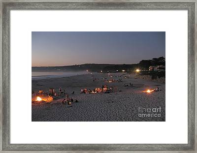 Carmel Beach Bonfires Framed Print