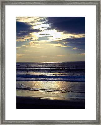 Carmel Beach Sunset Framed Print