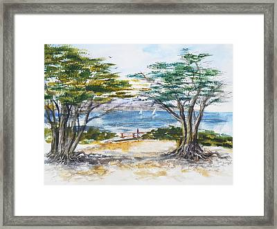 Carmel By The Sea California Framed Print by Irina Sztukowski