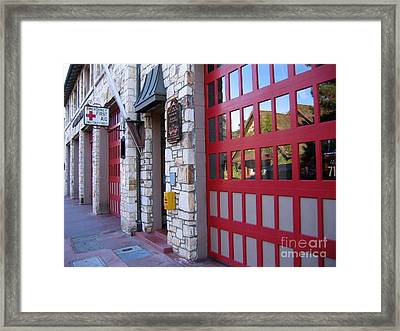 Carmel By The Sea Fire Station Framed Print