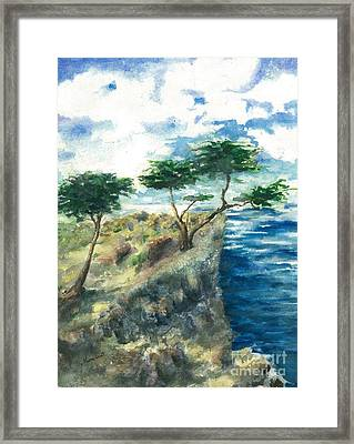 Carmel By The Sea Framed Print by Maria Hunt