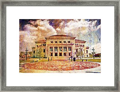 Carmel Center For The Performing Arts Framed Print by David Haskett