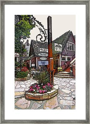 Carmel Charm Framed Print by Linda  Parker