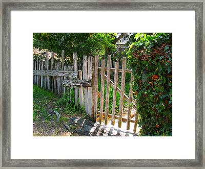 Carmel Gate Framed Print