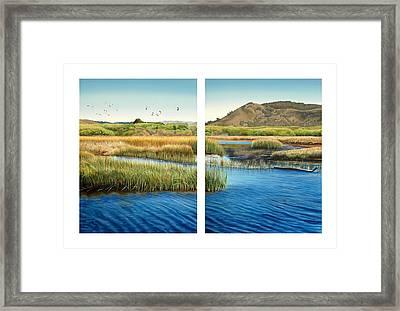 Carmel Lagoon Framed Print
