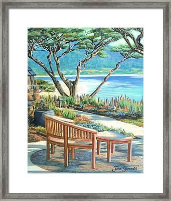 Carmel Lagoon View Framed Print