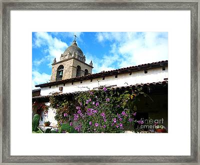 Carmel Mission 5 Framed Print by Theresa Ramos-DuVon