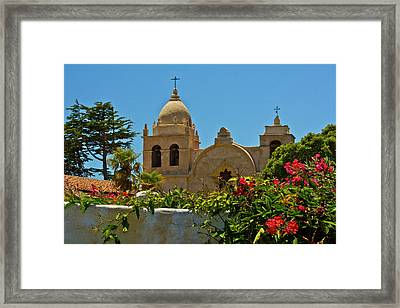 Carmel Mission, Carmel, California, Usa Framed Print