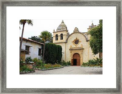 Carmel Mission Church Framed Print